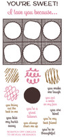Inky Antics Clear Stamps Candy Box Messages (Coordinates with IA-SOS100)