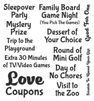 Inky Antics Clear Stamps Love Coupon Add-ons (Coordinates with IA-SOS102)