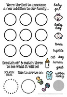 Inky Antics Clear Stamps Baby Gender Reveal (Coordinates with IA-SOS103)