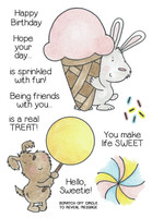 Inky Antics Clear Stamps Bunny & Pup's Treats (Coordinates with IA-SOS104)