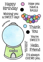 Inky Antics Clear Stamps Gumball Machine (Coordinates with IA-SOS105)