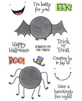 Inky Antics Clear Stamps Spider & Bat (Coordinates with IA-SOS104)