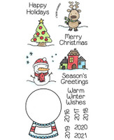 Inky Antics Clear Stamps Snowglobe (Coordinates with IA-SOS105)