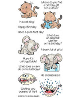 Inky Antics Clear Stamps Birthday Riddles (Coordinates with IA-SOS106)