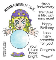 Inky Antics Clear Stamps Fortune Teller (Coordinates with IA-SOS100)