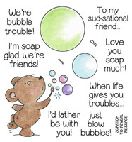 Inky Antics Clear Stamps Bubble Bear (Coordinates with IA-SOS104)