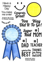 Inky Antics Clear Stamps Blue Ribbon (Coordinates with IA-SOS104)