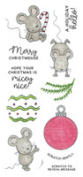 Inky Antics Clear Stamps Ornament Mice (Coordinates with IA-SOS107)