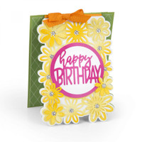 Sizzix Framelits Die Set 4PK by Stephanie Barnard - Card with Flowers & Circle Drop-ins