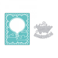 Sizzix Impresslits Embossing Folder by Lindsey Serata - Hot Air Balloon