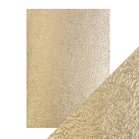 Tonic Studios - Craft Perfect - Luxury Embossed Card A4 (5/PK) - Golden Glacier