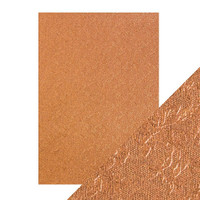 Tonic Studios - Craft Perfect - Luxury Embossed Card A4 (5/PK) - Copper Rose