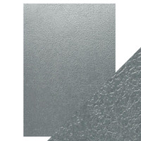 Tonic Studios - Craft Perfect - Luxury Embossed Card A4 (5/PK) - Ice Grey Glacier
