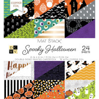 "DCWV Double-Sided Cardstock Stack 6""X6"" 24/Pkg - Spooky Halloween"