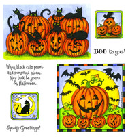 Northwoods Rubber Cling Stamps - Black Cats and Jacks