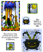 Northwoods Rubber Cling Stamps - Witch's Legs