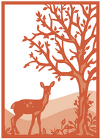 Simply Defined August 2018 Release Dies Set - Over The River and Through The Woods, Woodland Deer