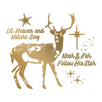 Simply Defined August 2018 Release HotFoil Stamps (7/pk) - Heavenly Deer