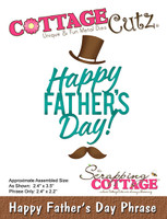 CottageCutz Dies - Happy Father's Day Phrase