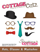 CottageCutz Dies - Hats, Glasses & Mustaches
