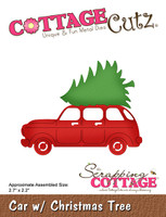 CottageCutz Dies - Car With Christmas Tree