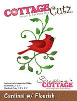 CottageCutz Dies - Cardinal With Flourish
