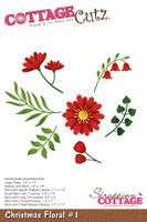 CottageCutz Dies - Christmas Floral #1