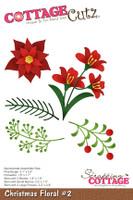 CottageCutz Dies - Christmas Floral #2