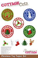 CottageCutz Dies - Christmas Tag Topper Set