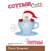 CottageCutz Dies - Cocoa Snowman