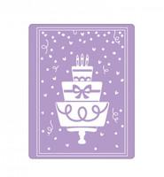 Sizzix Impresslits Embossing Folder by Katelyn Lizardi - Birthday Cake
