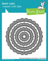 Lawn Fawn Dies - Stitched Scalloped Circle Frames
