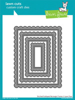 Lawn Fawn Dies - Stitched Scalloped Rectangle Frames