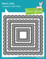 Lawn Fawn Dies - Stitched Scalloped Square Frames
