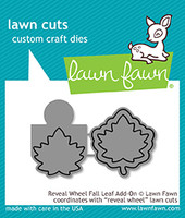 Lawn Fawn Dies - Reveal Wheel Fall Leaf Add-On