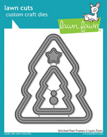 Lawn Fawn Dies - Stitched Christmas Tree Frames