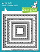 Lawn Fawn Dies - Reverse Stitched Scalloped Square Windows