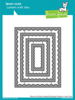 Lawn Fawn Dies - Reverse Stitched Scalloped Rectangle Windows