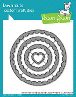 Lawn Fawn Dies - Reverse Stitched Scalloped Circle Windows