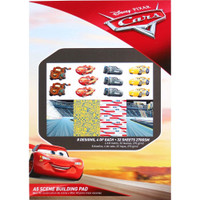 Disney A5 Scene Building Pad 32 Sheets, 8 Designs/4 Each - Cars 3