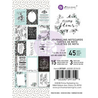 "Prima Marketing, Flirty Fleur Journaling Cards Pad 3""X4"" 45/Pkg"