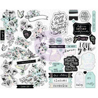 Prima Marketing, Flirty Fleur Stickers With Foil Accents