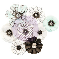 Prima Marketing, Flirty Fleur Mulberry Paper Flowers 8/Pkg - Dreamer