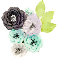 Prima Marketing, Flirty Fleur Mulberry Paper Flowers 8/Pkg - Simplicity