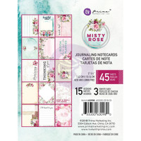 "Prima Marketing, Misty Rose Journaling Cards Pad 3""X4"" 45/Pkg"