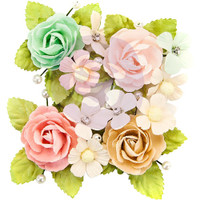 Prima Marketing, Misty Rose Mulberry Paper Flowers 4/Pkg - Paxton