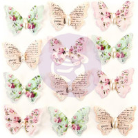 Prima Marketing, Misty Rose Mulberry Paper Butterflies 12/Pkg - Taylor