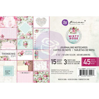 "Prima Marketing, Misty Rose Journaling Cards Pad 4""X6"" 45/Pkg"
