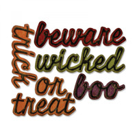 Sizzix Thinlits Die Set 12PK by Tim Holtz - Shadow Script Halloween