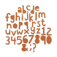 "Sizzix Thinlits Die Set 102PK by Tim Holtz - Alphanumeric, Cutout Lower (3/4"" Tall)"